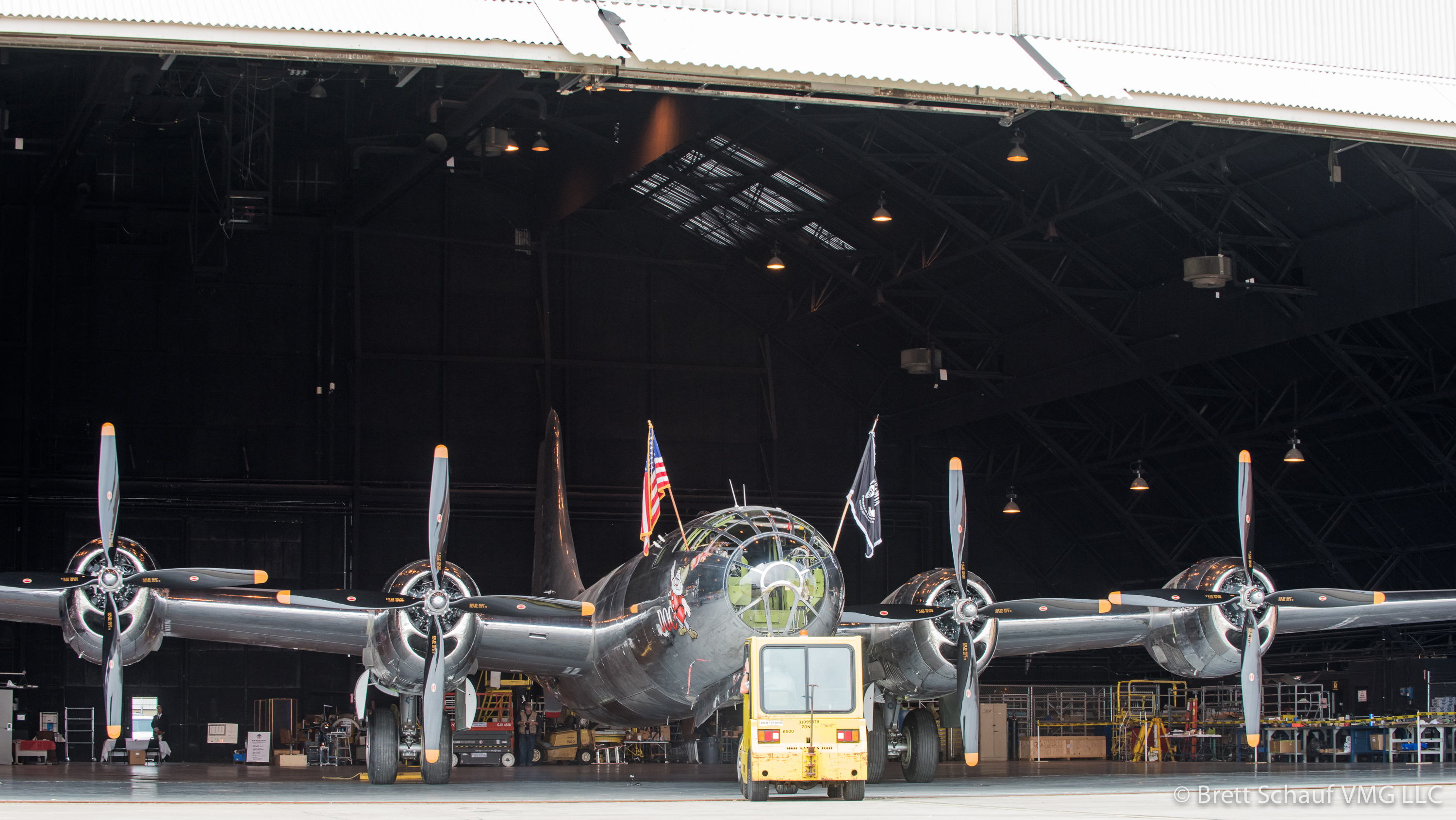 "Doc's Friends Hold Rollout for B-29 Known as ""Doc"""
