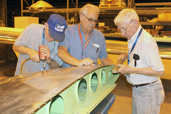 Wing restoration underway for B-29 Doc