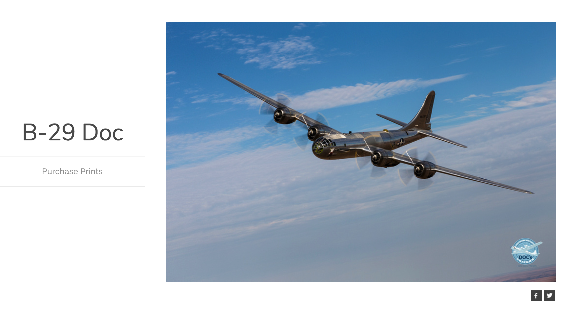 Purchase exclusive B-29 Doc photo prints