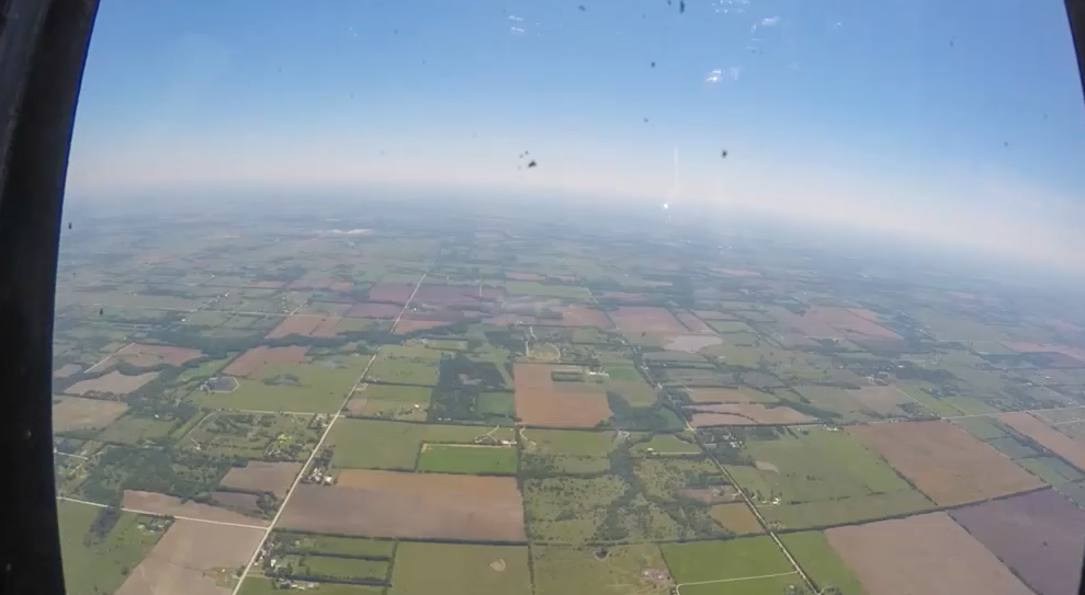 VIDEO: The view from the bombardier's seat of B-29 Doc in flight
