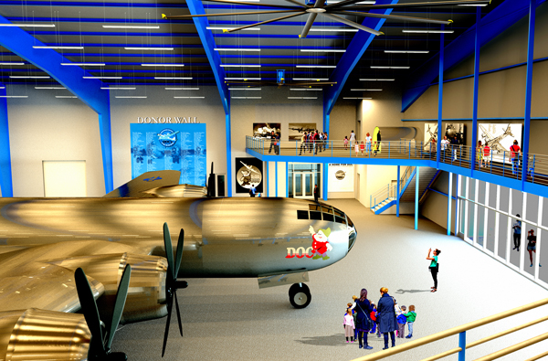 Doc's Friends reveals plans for B-29 Doc Hangar and Education Center  and announces public fundraising phase