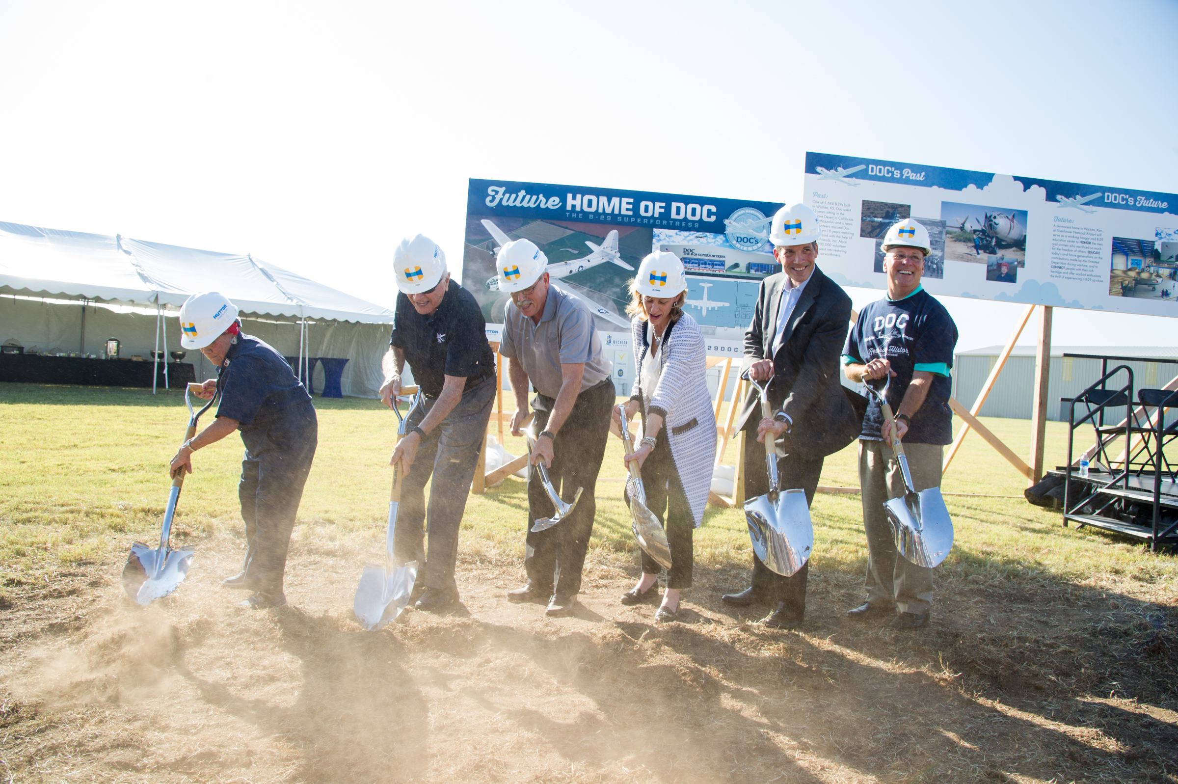 Doc's Friends announces major hangar gifts from Boeing and Spirit AeroSystems, breaks ground on future home for B-29 Doc