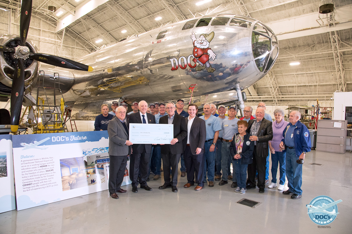 Doc's Friends announces major hangar gift from Sedgwick County